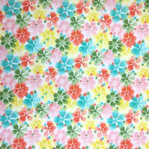 Summer Skies - Large Floral - Cotton Print (12260)