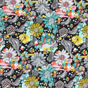 Summer Skies - Multi Floral - Cotton Print (12261)
