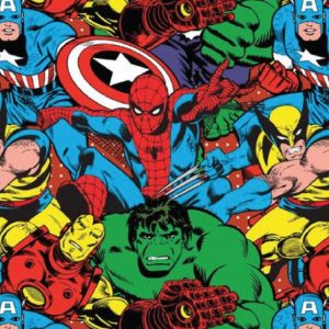 Marvel Collage - Cotton Print (13200101)