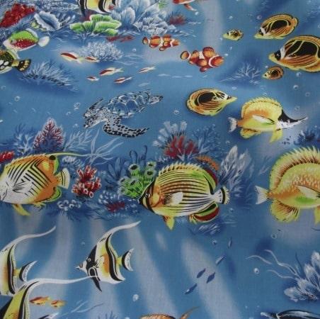Sea Life - Poly Cotton (1664)