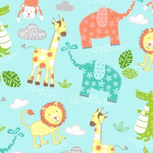 Baby Animals - Cotton Print (2268)