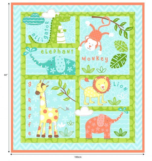 Baby Animals - Cotton Panel (2268)