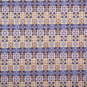 Geo Purple- Cotton Prints (2358PU)