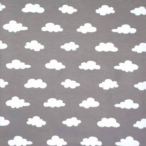 Grey Clouds - Cotton Spandex (2363)