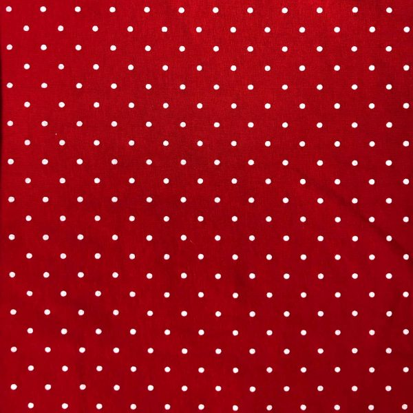 Red Polka Dot - Cotton Spandex (2364)