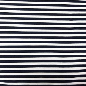 Navy Stripe - Cotton Spandex (2365)