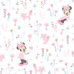 Minnie Mouse and Little Fox - Cotton Print (2392)