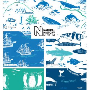 Explore The Ocean - Natural History Museum - Fat Quarters (2441)