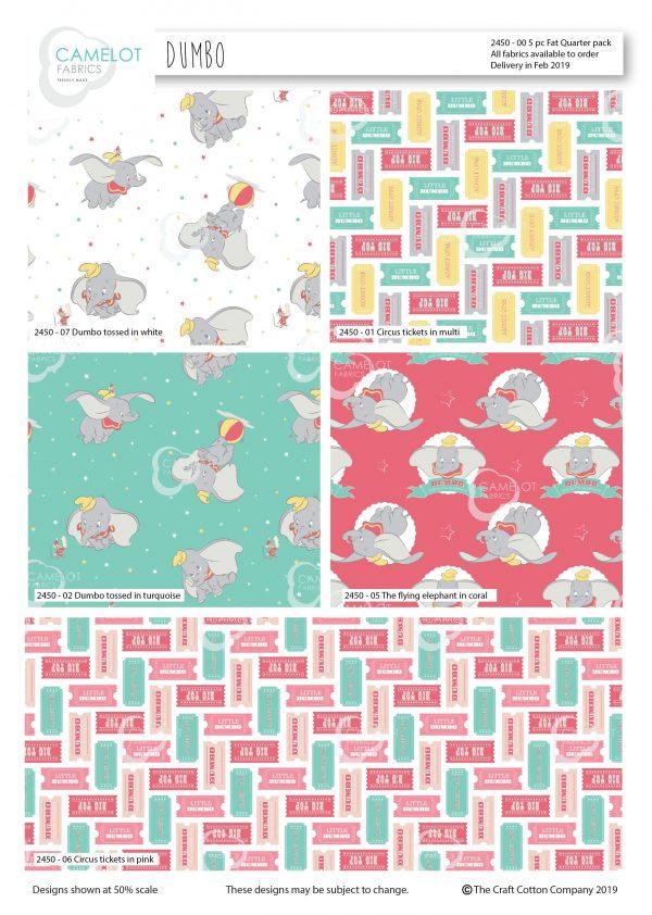 (Pre-Order) Dumbo - Disney - Fat Quarters (2450)