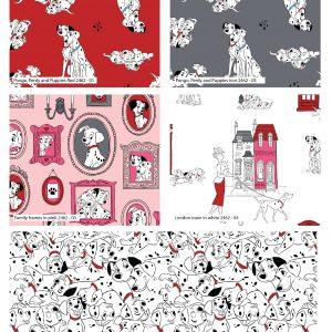 (Pre-Order) 101 Dalmatians - Disney - Fat Quarters (2462)