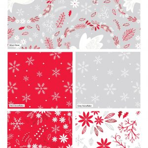 (Pre-Order) Christmas Dove Red - Fat Quarters (2477)