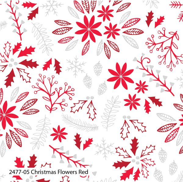 (Pre-Order) Christmas Dove Red - Cotton Prints (2477)