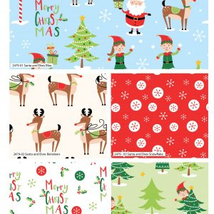 (Pre-Order) Santa & Elves Christmas - Fat Quarters (2479)