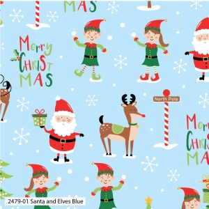 (Pre-Order) Santa & Elves Christmas - Cotton Prints (2479)