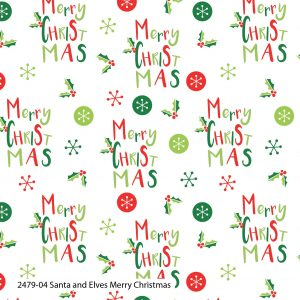 (Pre-Order) Santa & Elves Christmas - Cotton Prints (2479)