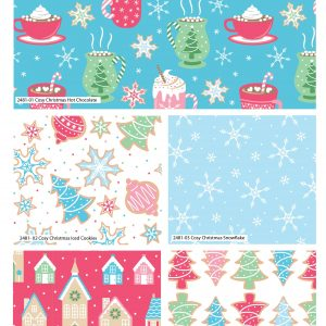 (Pre-Order) Cosy Christmas - Fat Quarters (2481)