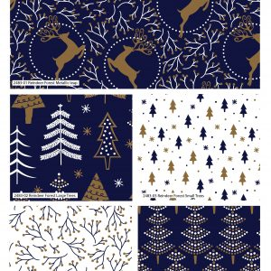 (Pre-Order) Reindeer Forest Metallic Christmas - Fat Quarters (2483)