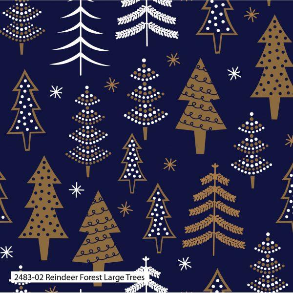 (Pre-Order) Reindeer Forest Metallic Christmas - Cotton Prints (2483)