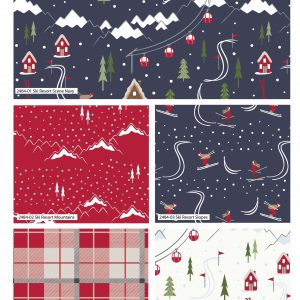 (Pre-Order) Ski Resort Christmas - Fat Quarters (2484)
