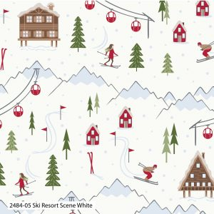 (Pre-Order) Ski Resort Christmas - Cotton Prints (2484)