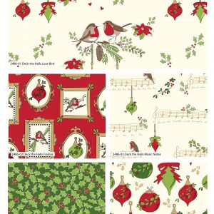 (Pre-Order) Deck The Halls by Debbie Shore - Christmas Fat Quarters (2485)