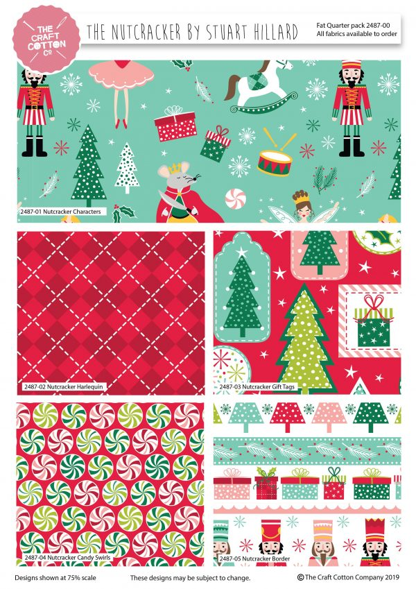 (Pre-Order) Nutcracker by Stuart Hillard - Christmas Fat Quarters (2487)