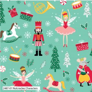 (Pre-Order) Nutcracker by Stuart Hillard - Christmas Cotton Prints (2487)