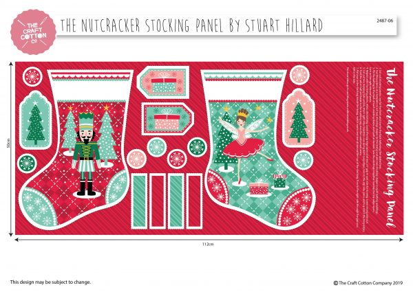 (Pre-Order) Nutcracker Stocking Panel by Stuart Hillard (2487) (Copy)