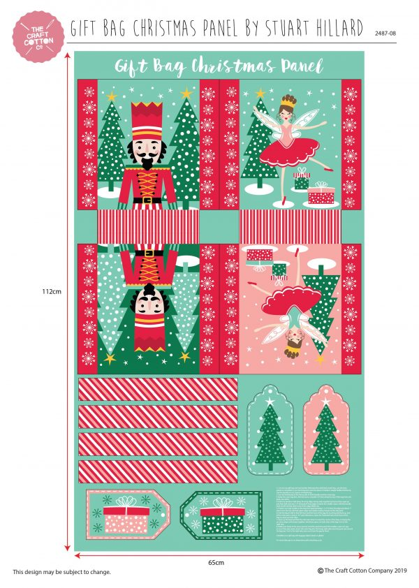 (Pre-Order) Nutcracker Gift Bag Panel by Stuart Hillard (2487)