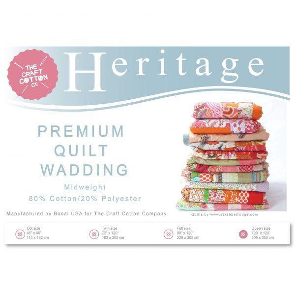 Heritage Premium Mid-Weight Wadding Pack (3521)